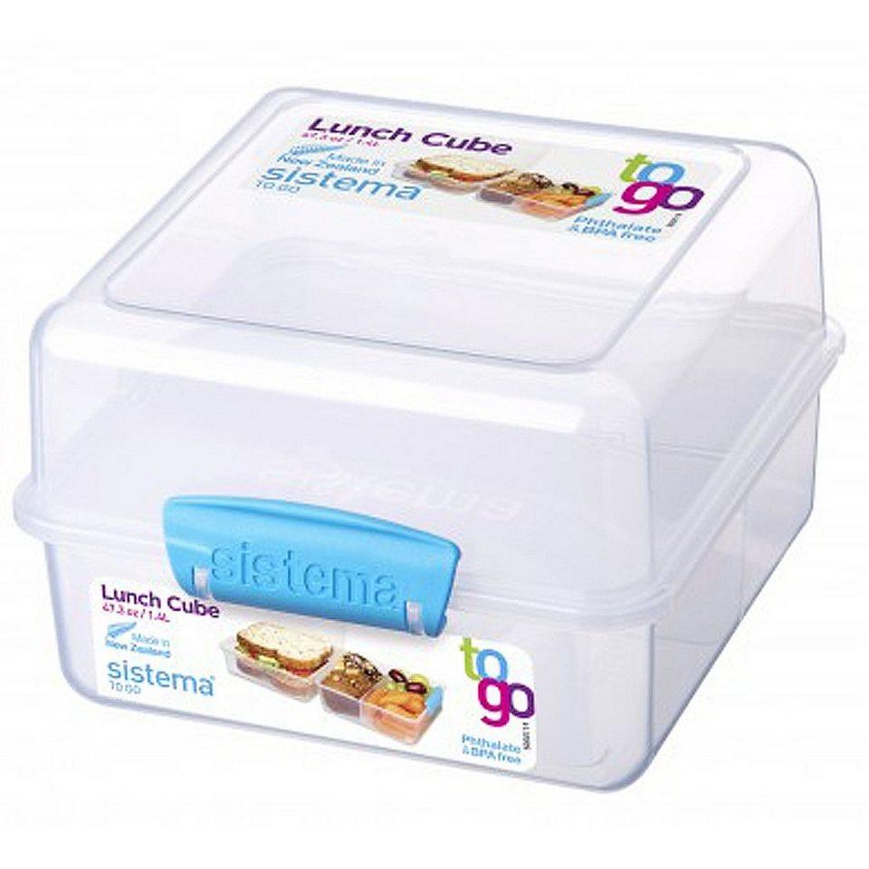 sistema sistema Lunch Box To Go, Clip blau in transparent, blau