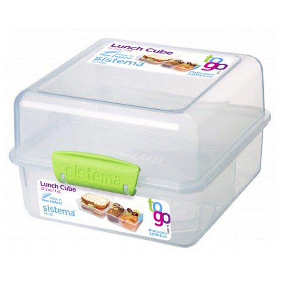 sistema sistema Lunch Box To Go, Clip grün in transparent, grün