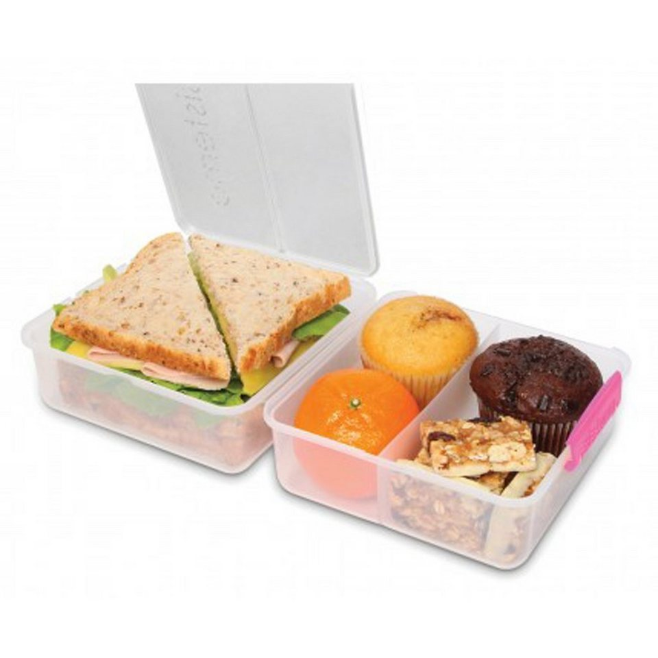 sistema sistema Lunch Box To Go, Clip pink in transparent, pink