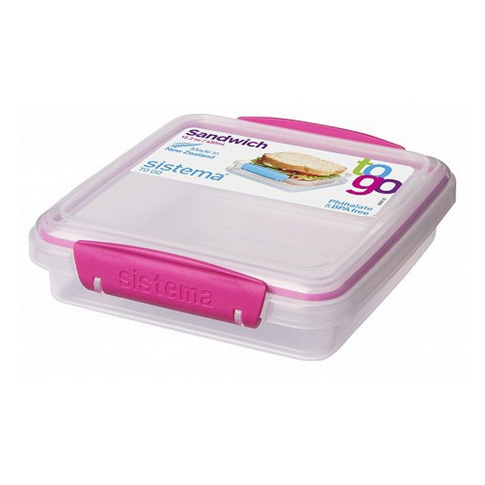 sistema sistema Sandwich-Box Clip pink in transparent, pink