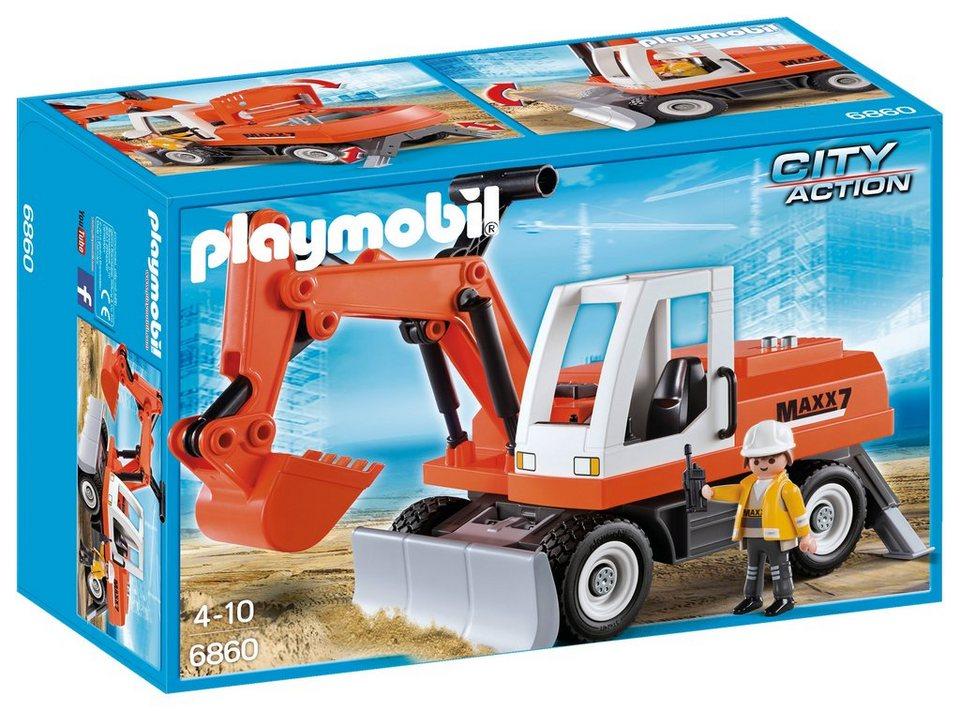 Playmobil® Schaufelbagger mit Räumschild (6860), »City Action«
