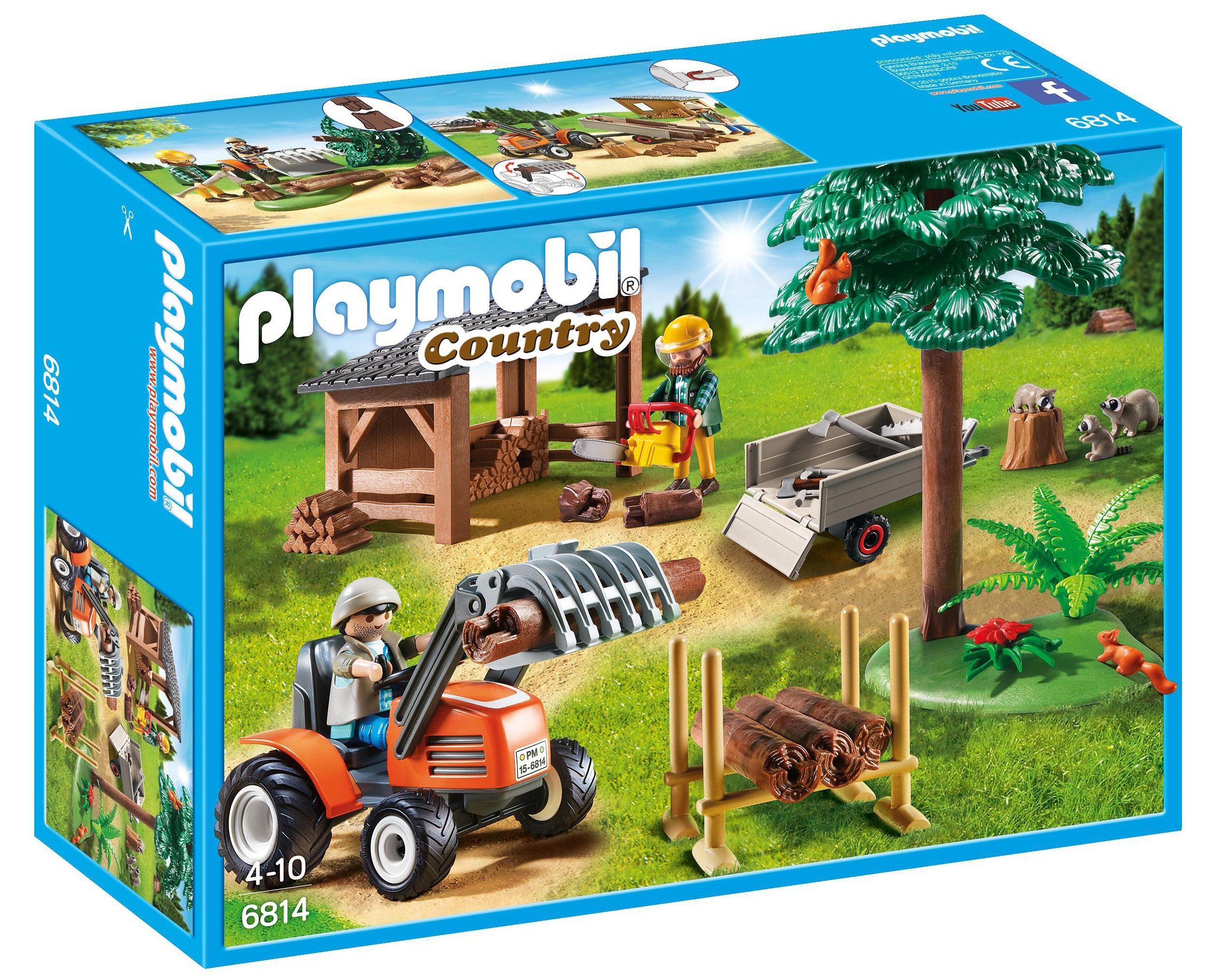 Playmobil® Holzfäller mit Traktor (6814), »Country«