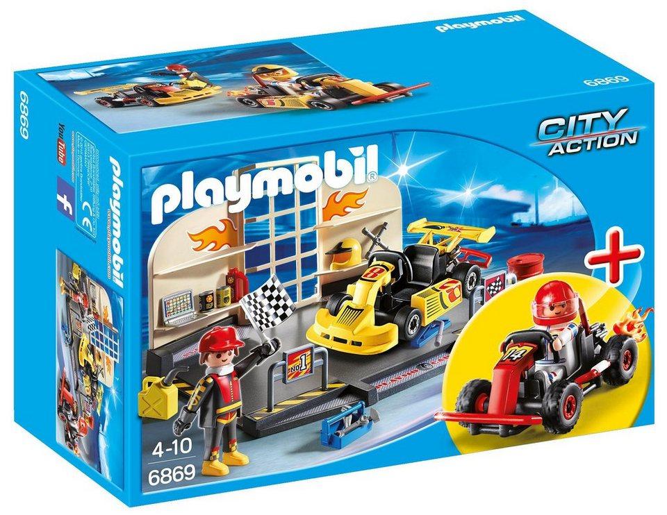 Playmobil® Starterset Gokart-Werkstatt (6869), »City Action«