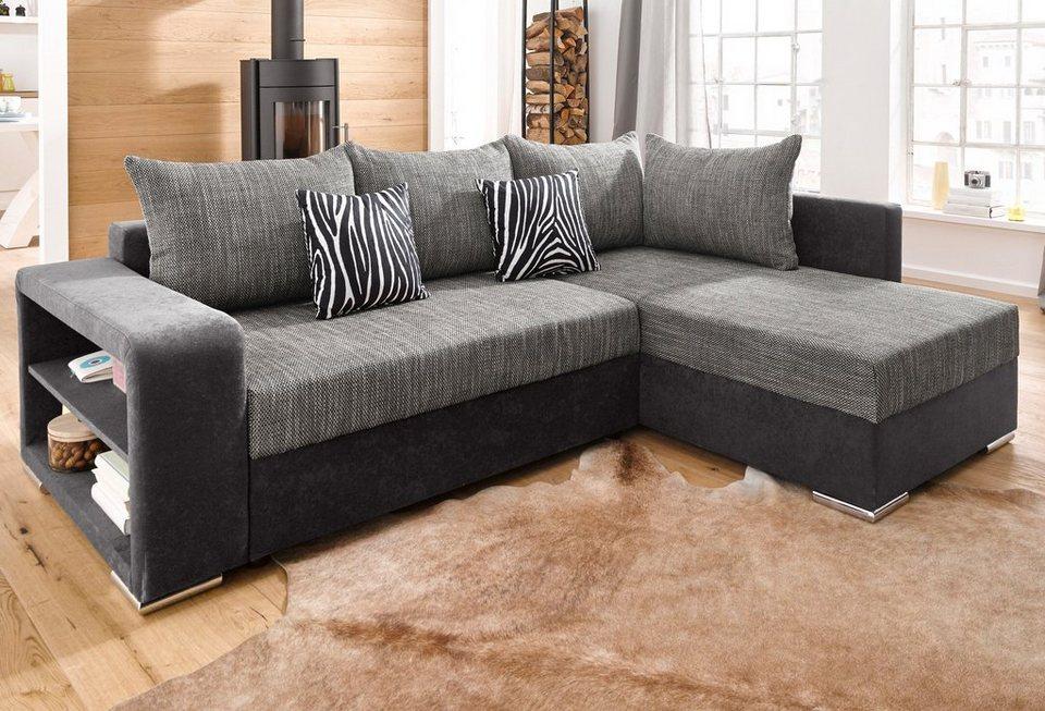 collection ab polsterecke mit bettfunktion wahlweise mit federkern inklusive loser zier und. Black Bedroom Furniture Sets. Home Design Ideas