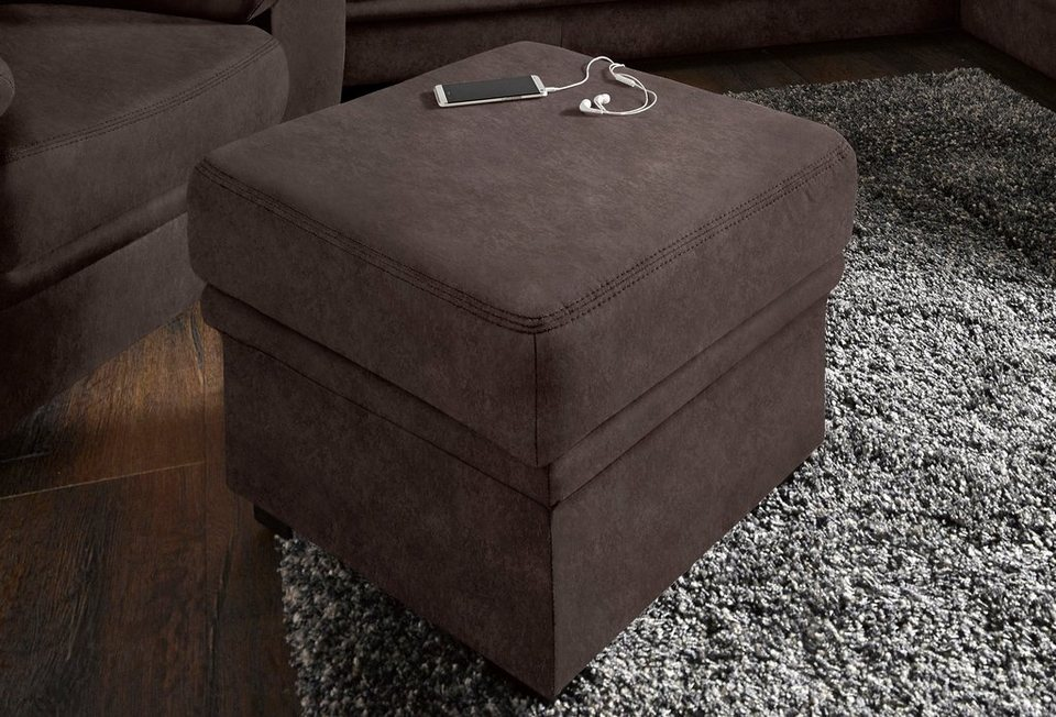 Sit&More Hocker, mit Stauraumfach in braun