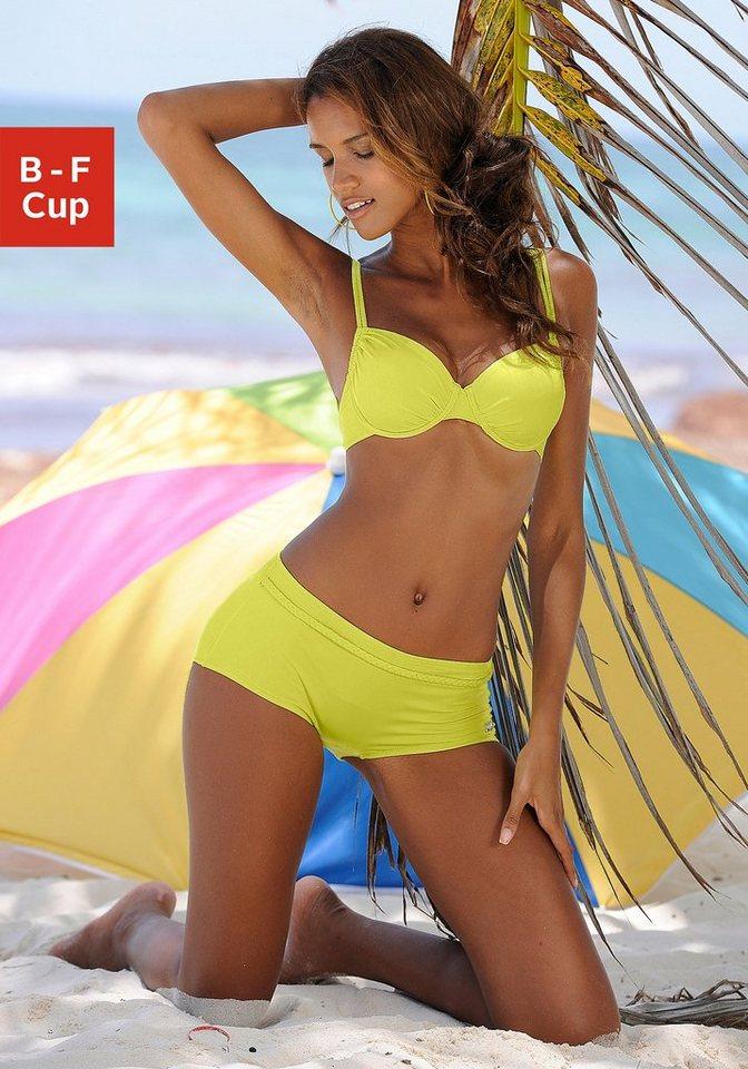 Bademode - Buffalo Bügel Bikini Top »Happy«, seitlich zu raffen › gelb  - Onlineshop OTTO