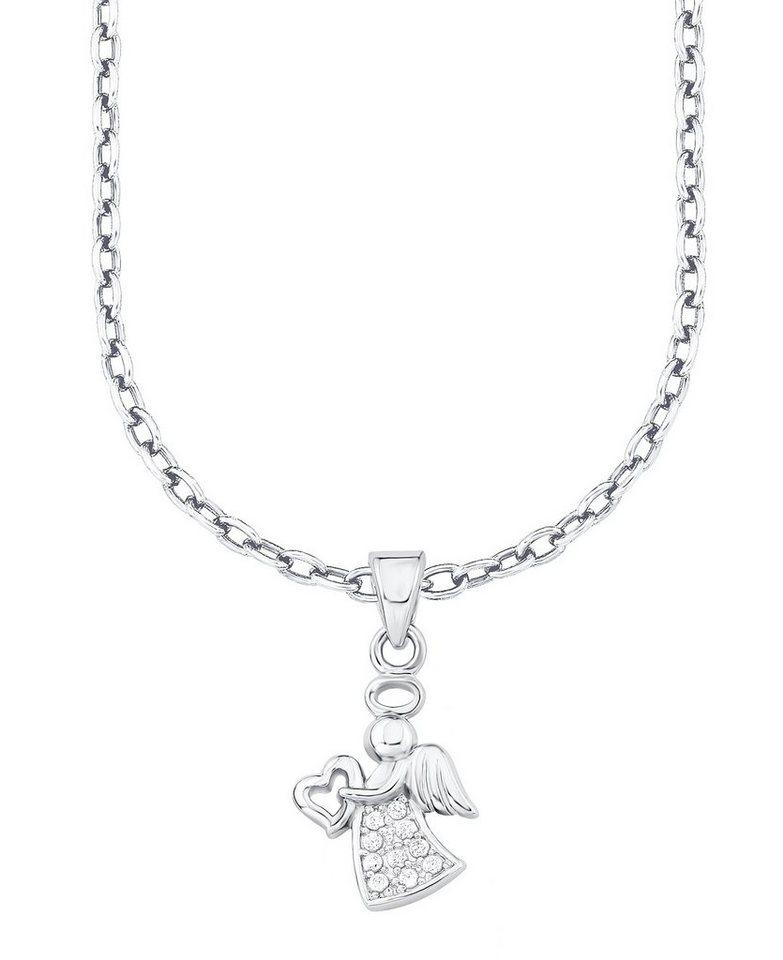 s.Oliver Junior Halskette mit Zirkonia, »Engel mit Herz, 9038602« in Silber 925