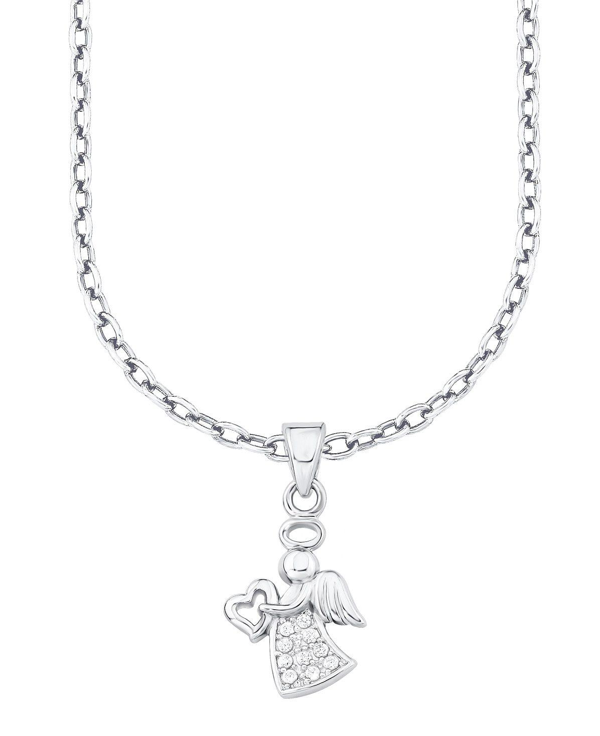 s.Oliver Junior Halskette mit Zirkonia, »Engel mit Herz, 9038602«