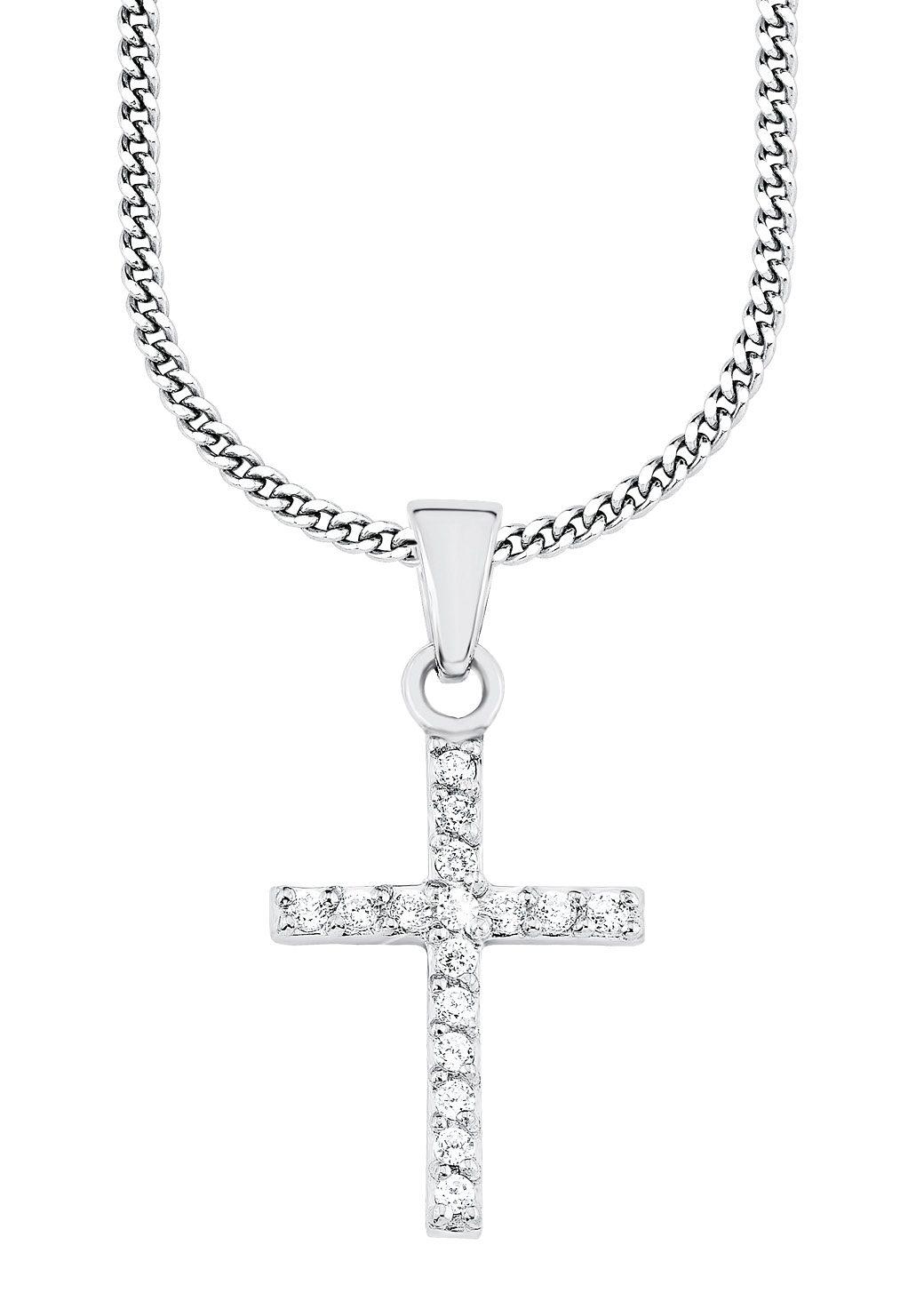 s.Oliver Junior Halskette mit Zirkonia, »Kreuz, 9038503«