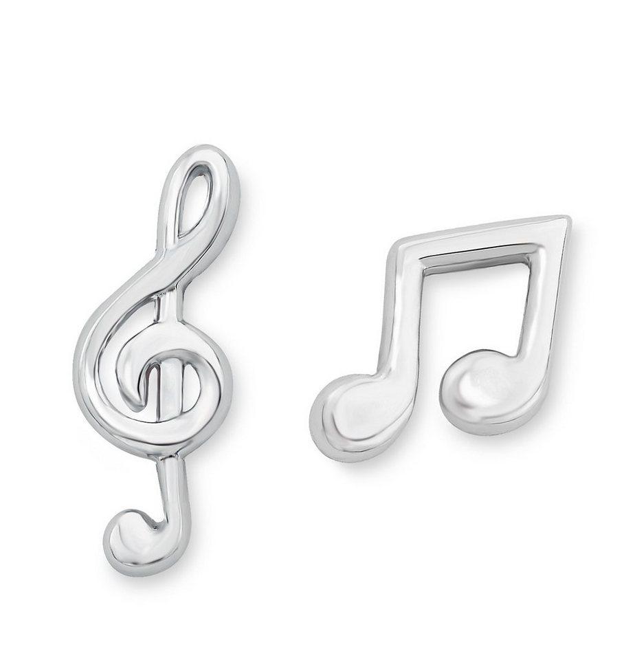 s.Oliver Junior Paar Ohrstecker, »Achtelnoten & Violinschlüssel, 9038497« in Silber 925