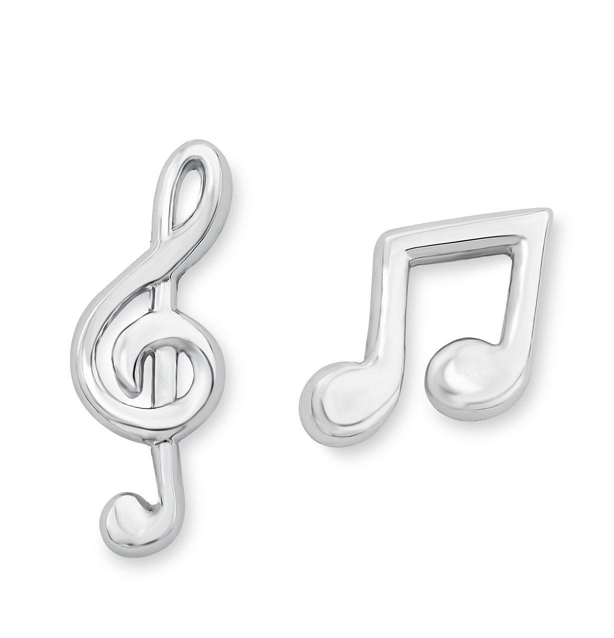 s.Oliver Junior Paar Ohrstecker, »Achtelnoten & Violinschlüssel, 9038497«