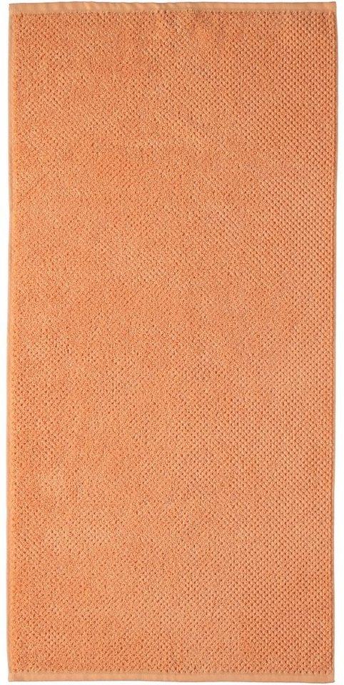 Badetuch, s.Oliver RED LABEL, »Uni Struktur«, mit strukturierter Oberfläche in mandarine
