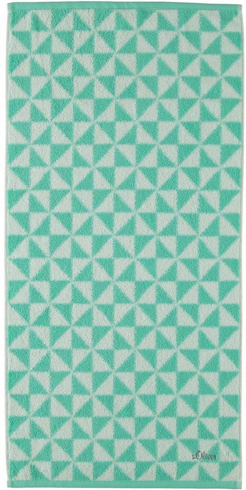 Handtücher, s.Oliver RED LABEL, »Triangel«, mit Dreiecken in mint