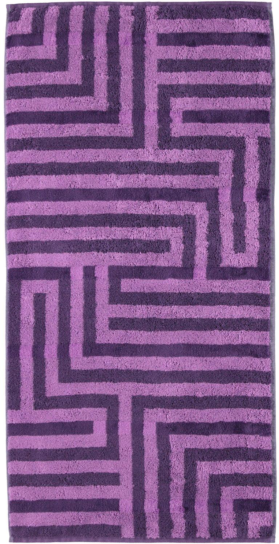 Handtücher, Cawö, »Noblesse Graphic«, in Labyrinth-Optik