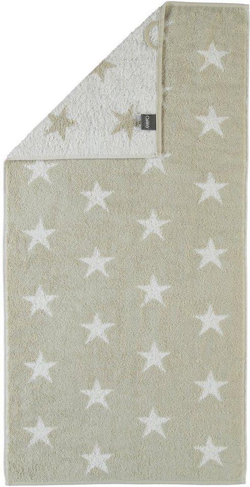 Handtücher, Cawö, »Stars Small«, mit Wendeseite in beige