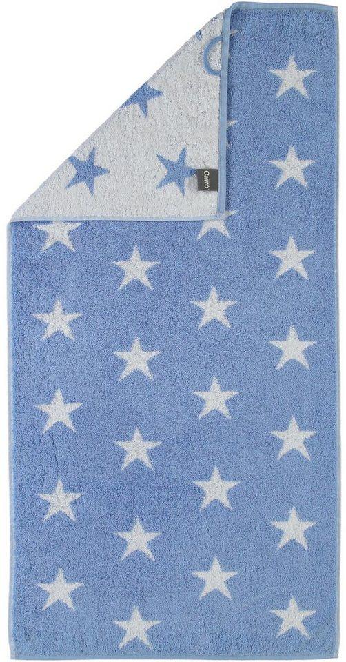 Handtücher, Cawö, »Stars Small«, mit Wendeseite in blau