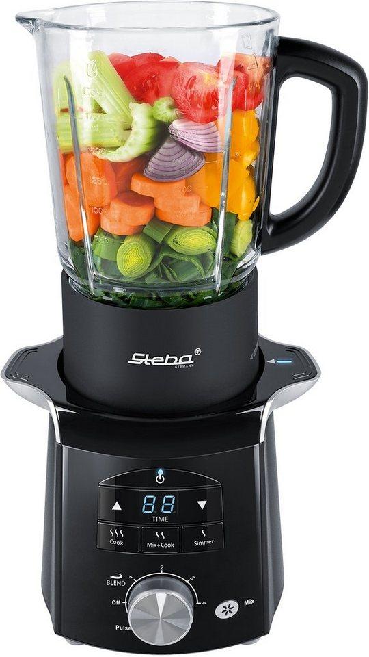 Steba Soup-& Smoothiemaker HC 2, 1200 Watt, 4 Geschwindigkeitsstufen, 3 Automatikprogramme in Schwarz