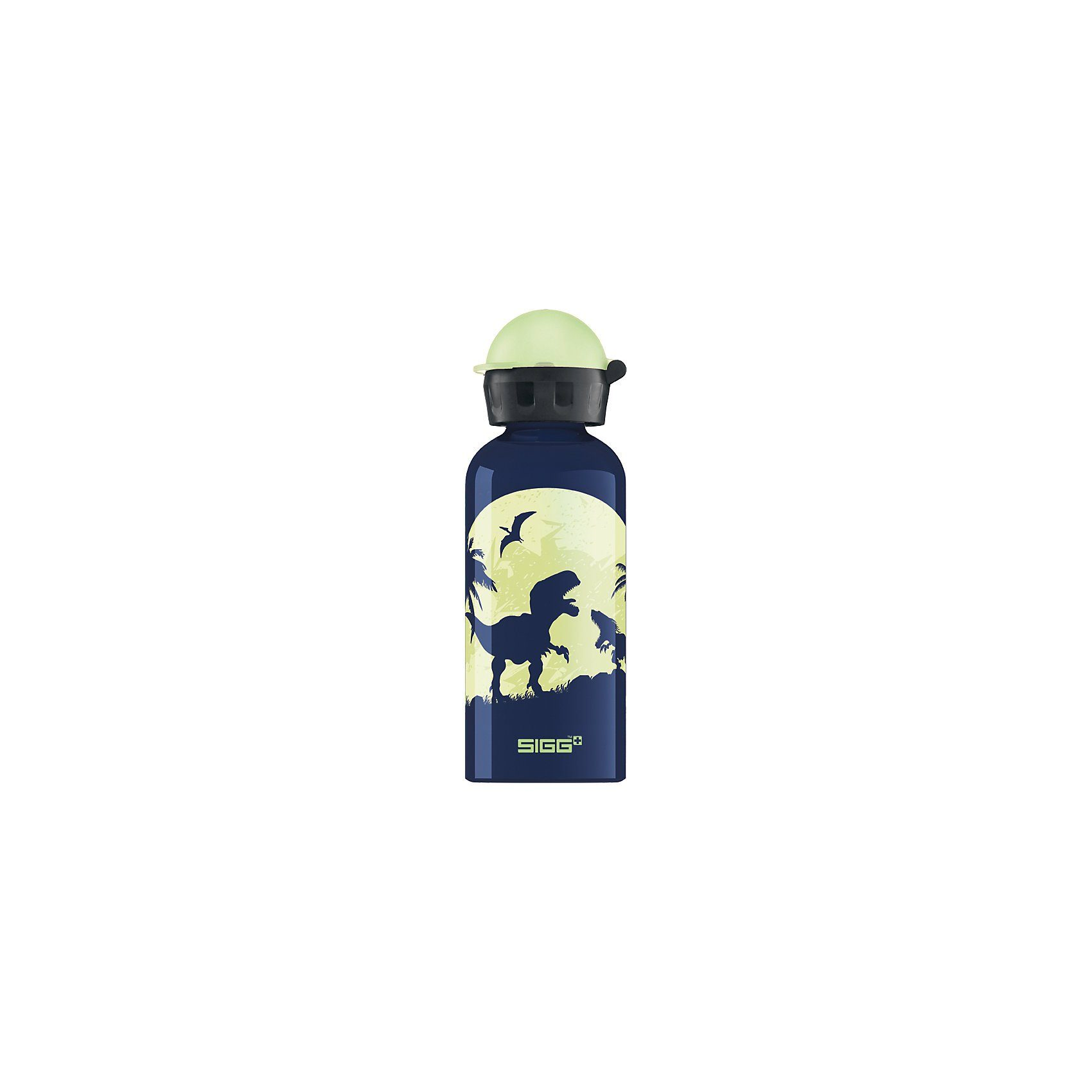 Sigg Alu-Trinkflasche Glow in the Dark Moon Dinos, 400 ml