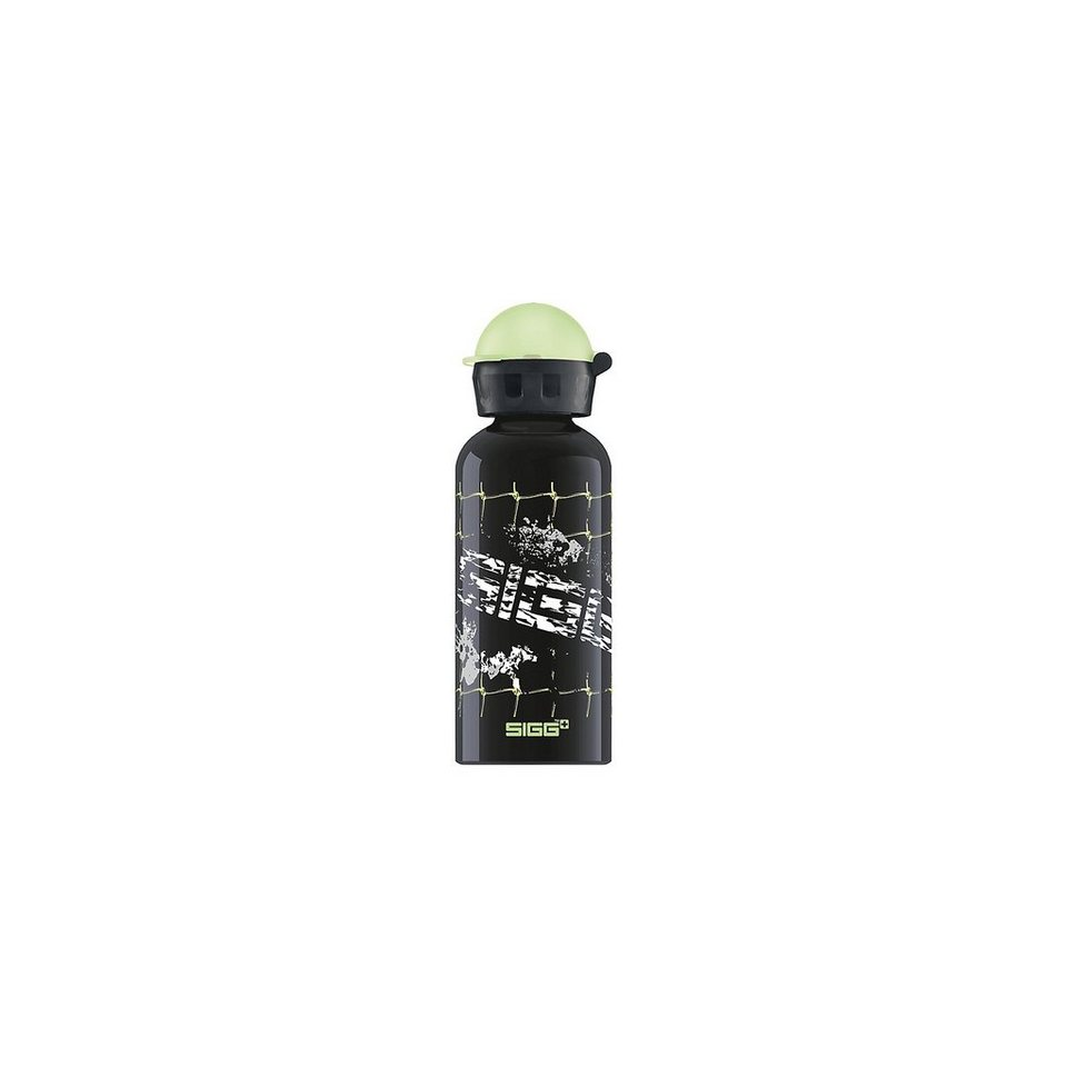 SIGG Alu-Trinkflasche Football Splash, 400 ml in schwarz