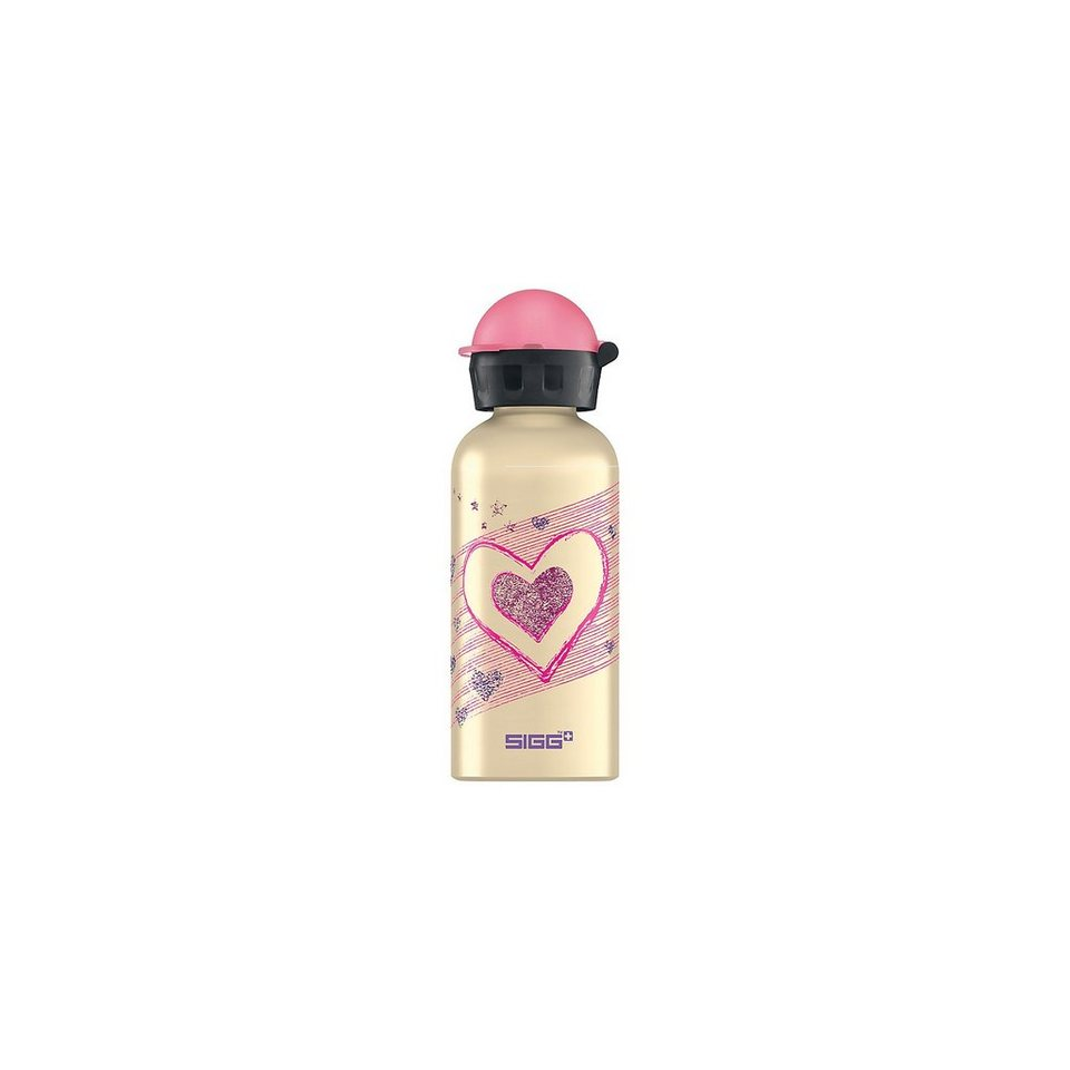 SIGG Alu-Trinkflasche Hearts & Stars, 400 ml in gold