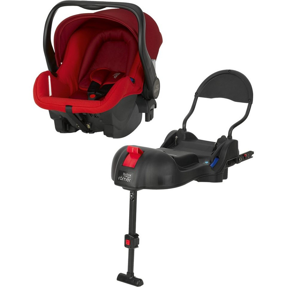 Britax Römer Babyschale Primo inkl. Basis, Flame Red, 2016 in rot