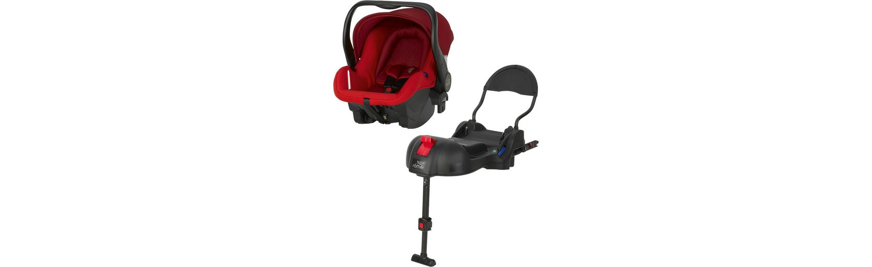 Britax Römer Babyschale Primo inkl. Basis, Flame Red, 2016