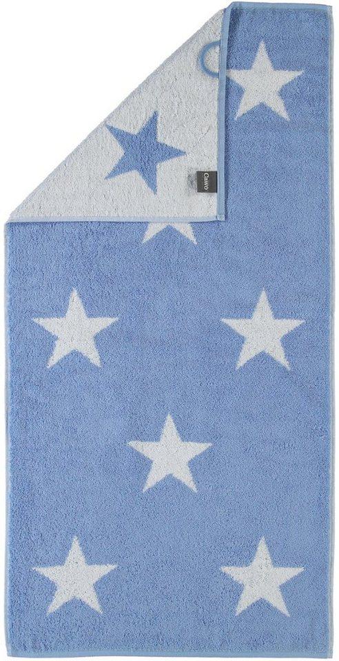 Handtücher, Cawö, »Stars Big«, mit Wendeseite in blau
