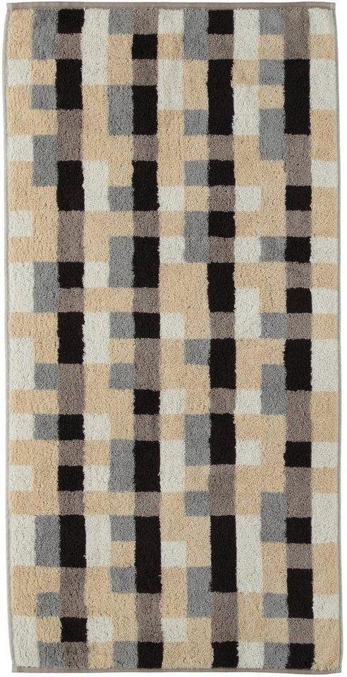 Handtücher, Cawö, »Mosaik«, mit kleinen Karos in sand