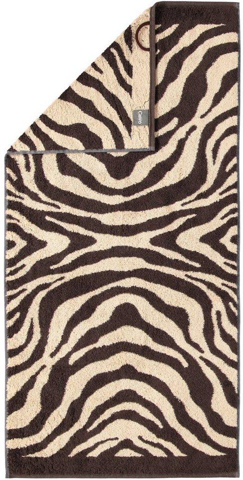 Handtücher, Cawö, »Instinct Zebra«, mit trendigem Fellmuster in braun