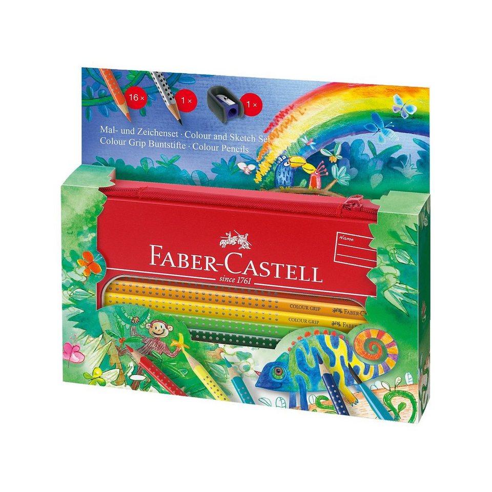 Faber-Castell Colour Grip Mal- und Zeichenset Dschungel