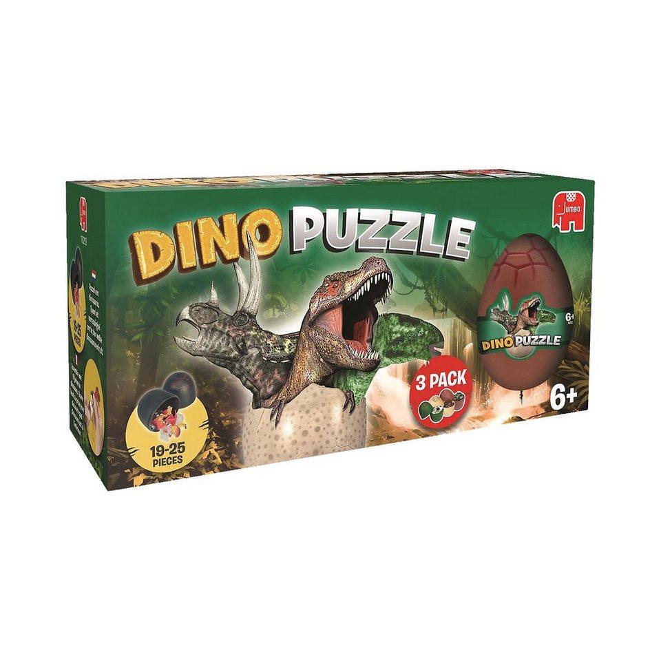 Jumbo Dino Puzzle - 3 Eier in einer Box