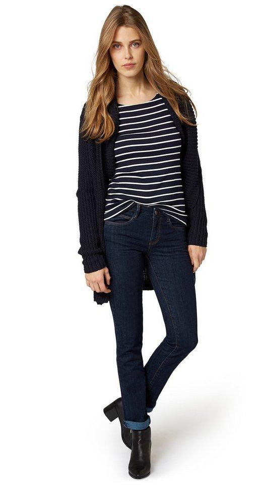 TOM TAILOR Jeans »Jeans mit Stretch-Anteil« in rinsed blue denim