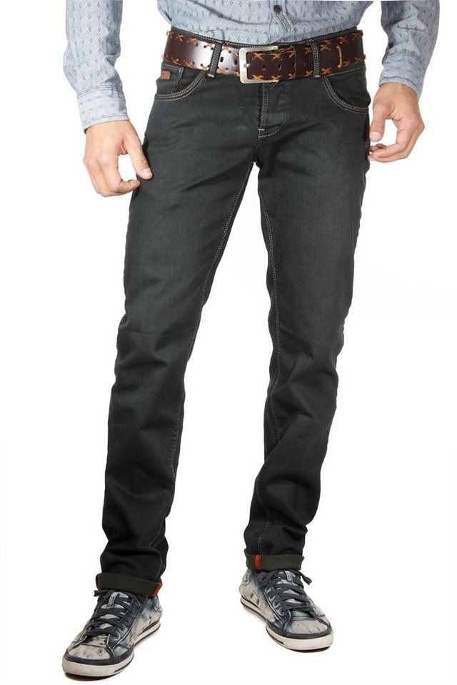 Bright Jeans Stretchjeans regular fit in schwarz