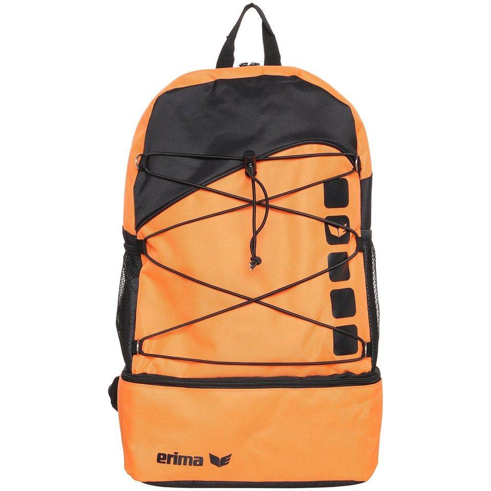 ERIMA Multifunktionsrucksack mit Bodenfach in orange/schwarz