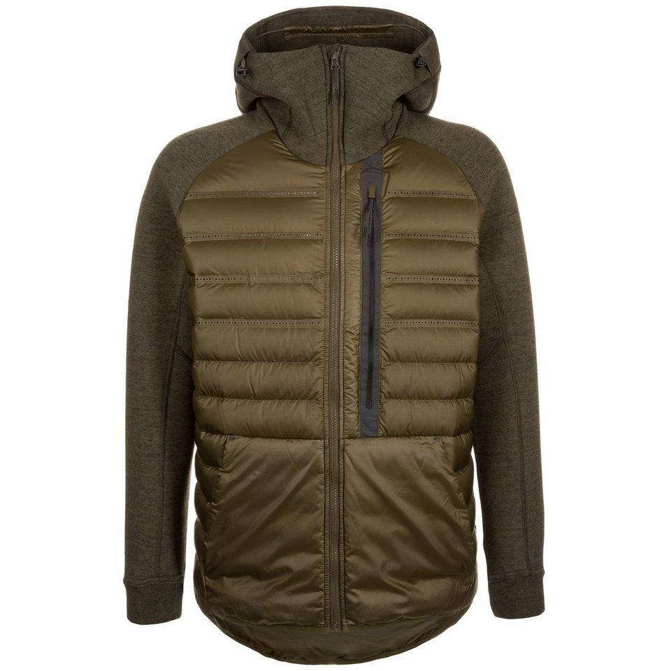 Nike Sportswear Aeroloft Tech Fleece Jacke Herren in oliv / schwarz