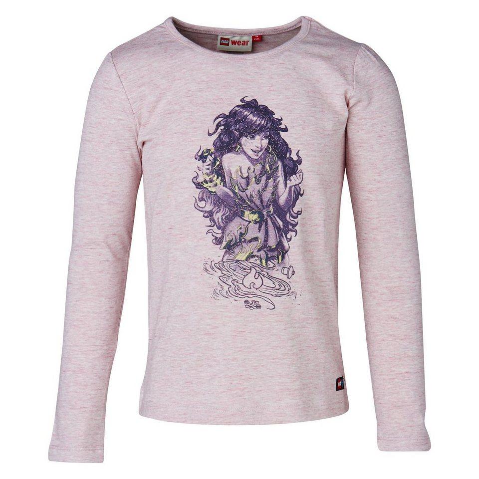 """LEGO Wear Elfen Langarm-T-Shirt Tamara """"Azari die Feuerelfe"""" in Rose"""