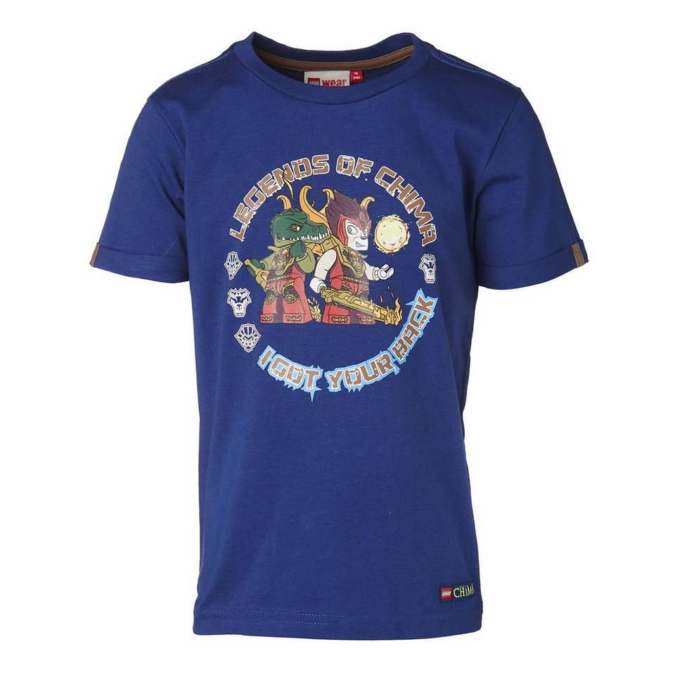 "LEGO Wear Legends of Chima T-Shirt Tony ""I Got Your Back"" kurzarm Shirt in dunkelblau"