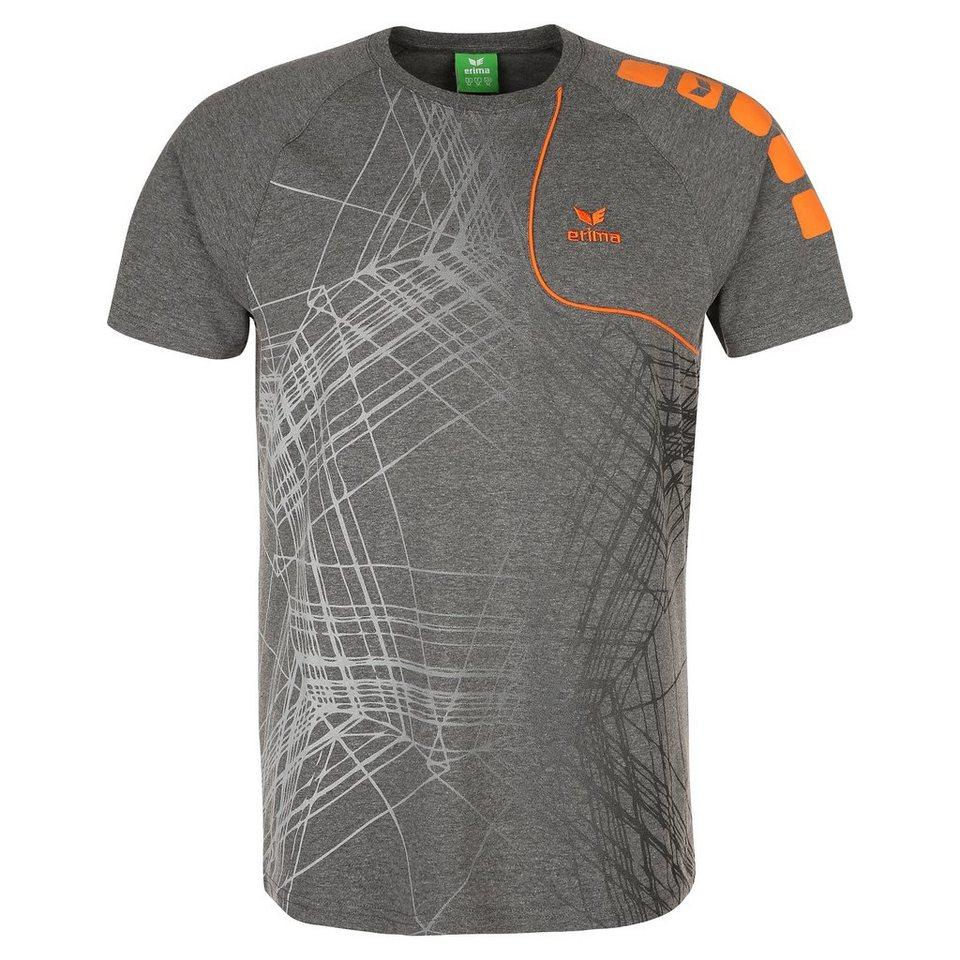ERIMA T-Shirt Player 3.0 Kinder in grau melange/orange