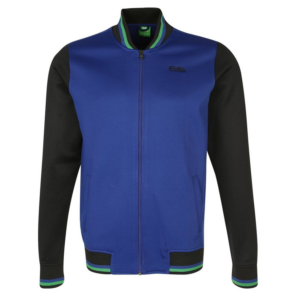 ERIMA Tracktop Jacke Herren in blau/schwarz/grün