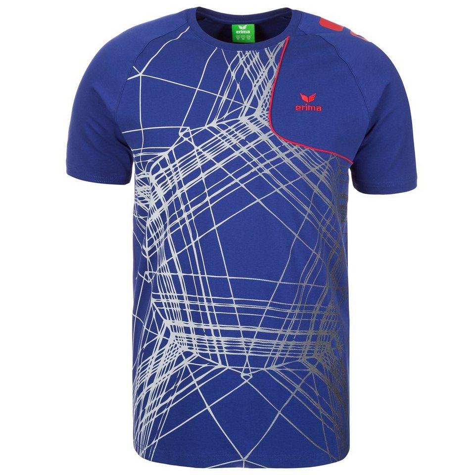 ERIMA T-Shirt Player 3.0 Herren in indigo blau/rot