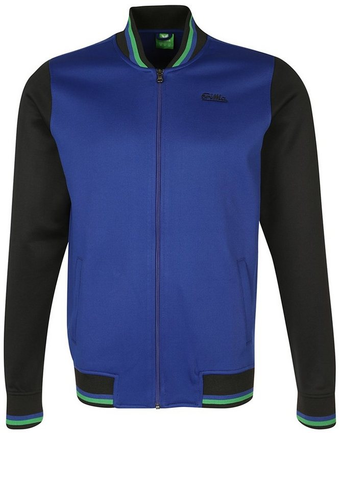 ERIMA Tracktop Jacke Kinder in blau/schwarz/grün