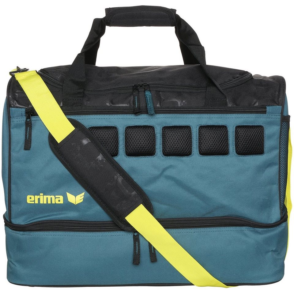 ERIMA Sporttasche mit Bodenfach in pinie/schwarz