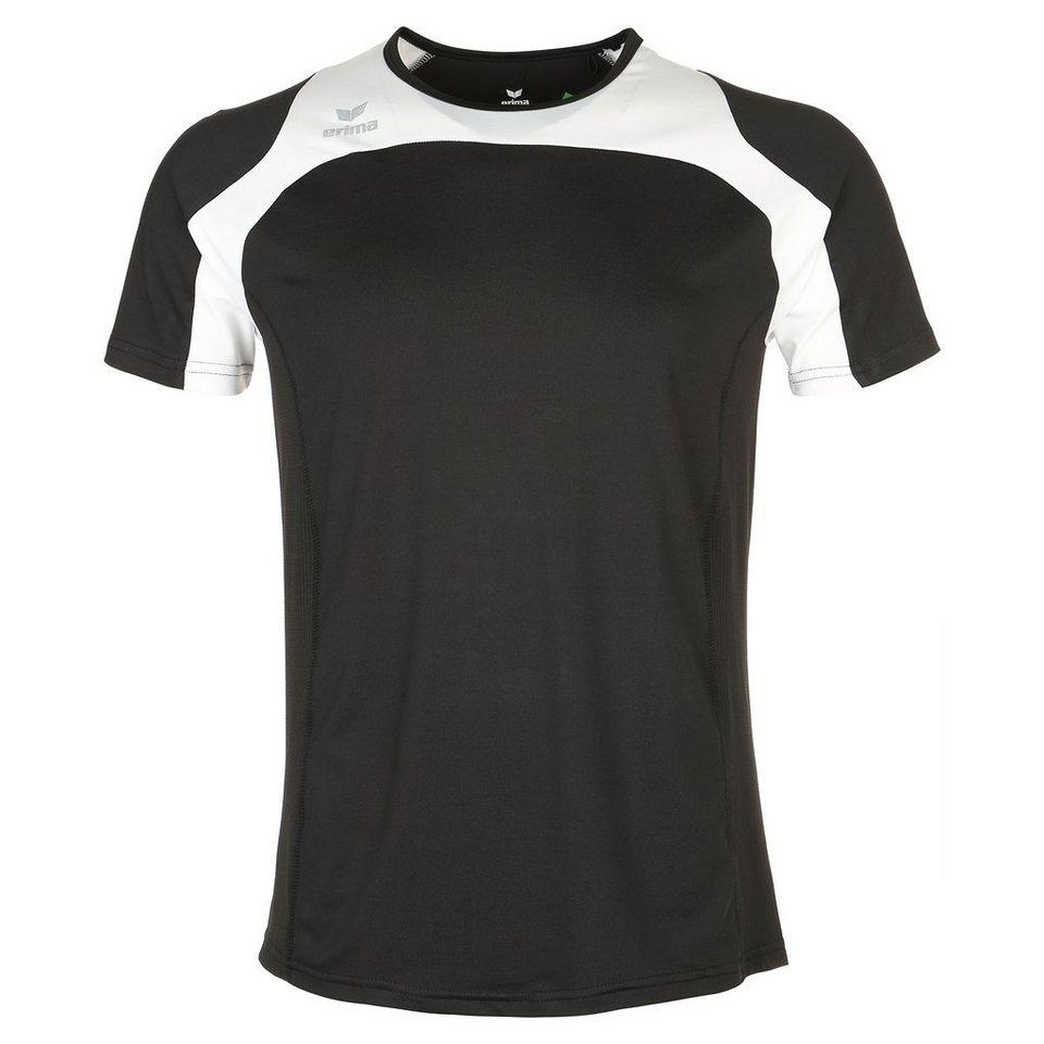 ERIMA Race Line Running T-Shirt Herren in schwarz/weiß