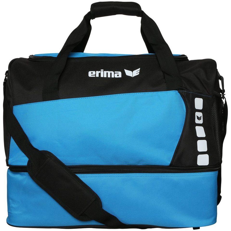 ERIMA Sporttasche mit Bodenfach in curacao/schwarz