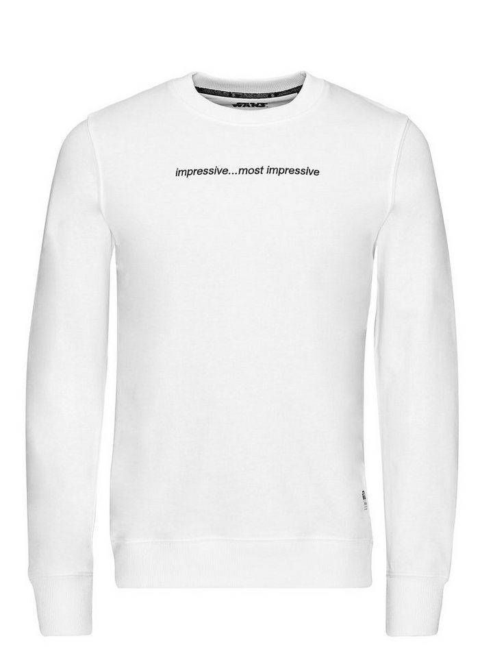 Jack & Jones Falcon Sweat Crew Neck Sweatshirt in White