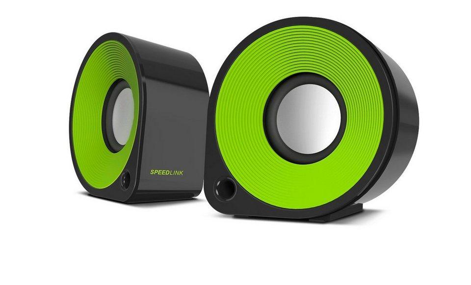 SPEEDLINK Stereo Lautsprecher »ELLIPZ Speakers schwarz-grün«