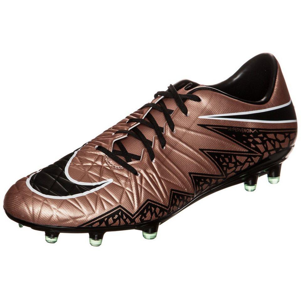 NIKE Hypervenom Phatal II FG Fußballschuh Herren in bronze / schwarz