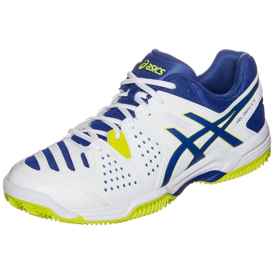 ASICS Gel-Dedicate 4 Clay Tennisschuh Herren in weiß / blau / lime