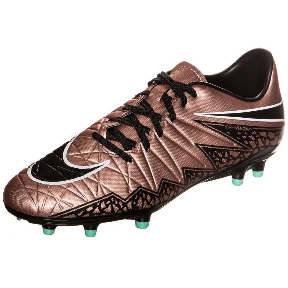 NIKE Hypervenom Phelon II FG Fußballschuh Herren in bronze / schwarz