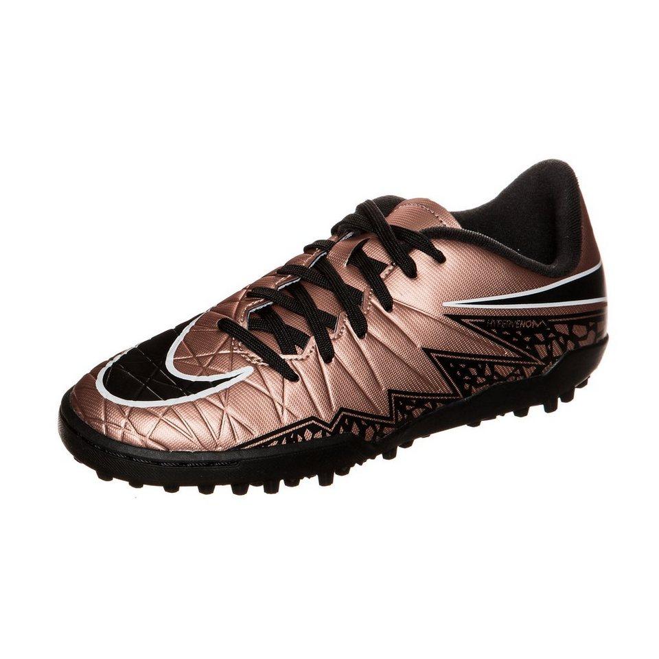 NIKE Hypervenom Phelon II TF Fußballschuh Kinder in bronze / schwarz